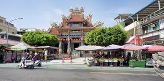 Buddhist temple in Kaohsiung, Taiwan stock photo