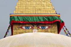 Buddhist temple in the Kathmandu,. Nepal Himalaya Spring 2011 Stock Photo