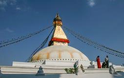 Buddhist temple in the Kathmandu. Nepal Himalaya Spring 2011 Royalty Free Stock Images
