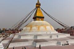 Buddhist temple in the Kathmandu. Nepal Himalaya Spring 2011 Stock Photos
