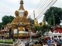 Buddhist temple in Kathmandu, Nepal Stock Image