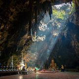 Buddhist temple in Khao Luang cave Stock Photography