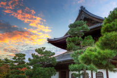 Buddhist temple in Kyoto during autumn Stock Photos