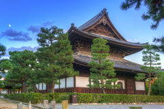 Buddhist temple in Kyoto during autumn Royalty Free Stock Photo