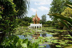 Buddhist temple in the lake Stock Images