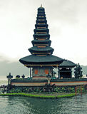 Buddhist temple on lake Bratan, Bali, Indonesia Royalty Free Stock Photo