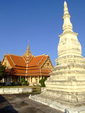 Buddhist temple, Laos. Buddhist temple in Vientiane in Laos Royalty Free Stock Photos