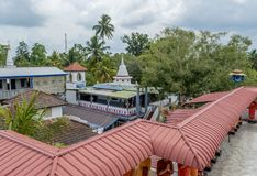 Buddhist temple located in the school. In Weligama town in Sri Lanka royalty free stock photos