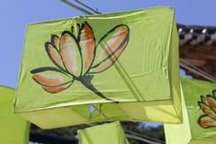 Buddhist Temple Lotus Lanterns Royalty Free Stock Image