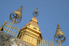 Buddhist temple in Luang Prabang Laos. Top of temple on Mount Phousi, Luang Prabang, Laos Stock Photos