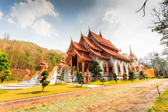 Buddhist Temple in Maehongsorn Province Royalty Free Stock Image