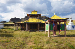 Buddhist Temple in Mongolia Stock Photos