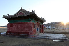 Buddhist temple, Mongolia Royalty Free Stock Images