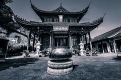 Buddhist Temple in Monochrome stock photography