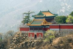 Buddhist temple at Mountain resort near Chengde. Hebei province, China Royalty Free Stock Photos