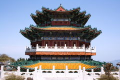 Buddhist temple in the mountains Royalty Free Stock Image