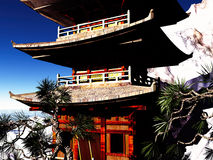 Buddhist temple in mountains Royalty Free Stock Photography