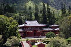 Buddhist Temple in the Mountains Royalty Free Stock Photography