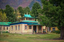 Buddhist temple in the mountains Stock Photography