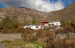 Buddhist temple in Muktinath, Nepal Royalty Free Stock Photos