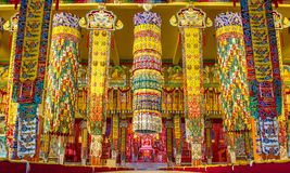 Buddhist temple in Namdroling Monastery Royalty Free Stock Photography