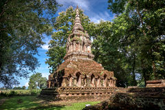 Buddhist temple named Wat Pha sak in Chiangrai province of Thailand Stock Photos