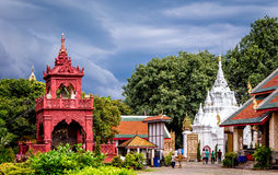 Buddhist temple named Wat Phra Kaew in Chiangrai province of Thailand Royalty Free Stock Photo