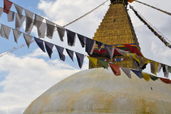 Buddhist temple in Nepal. Buddhist temple Boudhanath in Kathmandu, Nepal Stock Photography