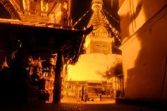 Buddhist temple at night Stock Photos