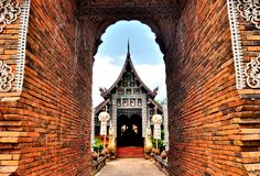 Buddhist temple in northern Thailand. Stock Images