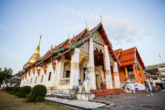 Buddhist temple in northern Thailand. Royalty Free Stock Images