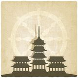Buddhist temple old background Royalty Free Stock Photo