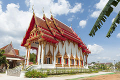 Buddhist temple. Ornate colorful Buddhist temple set against a blue sky background Thailand Stock Photo