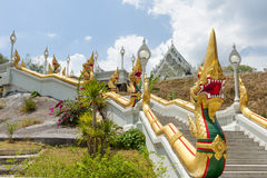 Buddhist Temple. Ornate Buddhist temple in Thailand Royalty Free Stock Photography