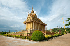 Buddhist Temple in Oudong, Cambodia. This image shows a Buddhist Temple in Oudong, Cambodia Stock Image
