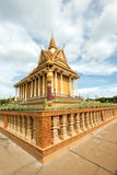 Buddhist Temple in Oudong, Cambodia Royalty Free Stock Photos