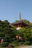 Buddhist Temple Pagoda. A pagoda from a Japanese buddhist temple in Shikoku, Japan stock photo