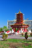 Pagoda of seven days. Elista. Republic of Kalmykia. Russia Royalty Free Stock Photography