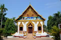 Buddhist temple in Pakse city in Laos Stock Photo