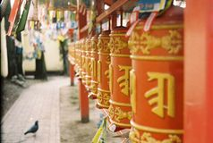 Buddhist temple in Petersburg. In the yard of buddhist temple in Petersburg. Film Stock Images