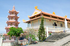 Buddhist temple in Vietnam Royalty Free Stock Images