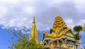 Buddhist temple at Phnom Sampov. Beautiful Buddhist temple at the top of the Phnom Sampov hill near Battambang, Cambodia Royalty Free Stock Photos