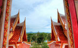 Buddhist temple in Phuket Stock Photos