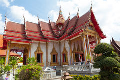 Buddhist temple in Phuket Royalty Free Stock Photography