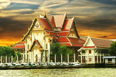 Buddhist temple on the river Stock Photography