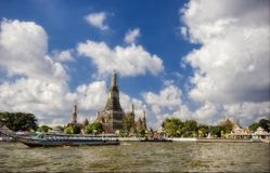 Buddhist temple on the river Royalty Free Stock Image