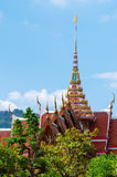 Buddhist temple roof Royalty Free Stock Photos
