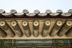 Buddhist Temple Roof Detail Stock Photo