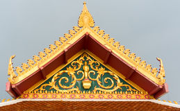 Buddhist temple roof detail in Thailand Royalty Free Stock Photos