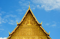 Buddhist temple roof, Laos. Royalty Free Stock Image
